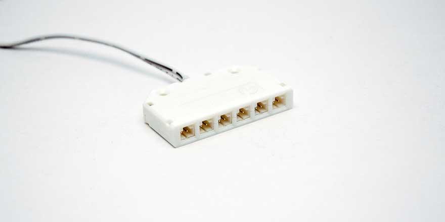 6 Way Low Voltage Distributor
