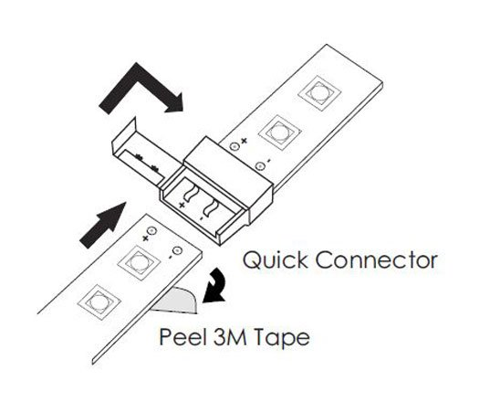 led strip connector s10w1