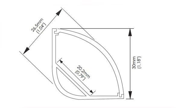 corner cove aluminium led profile ac-l016