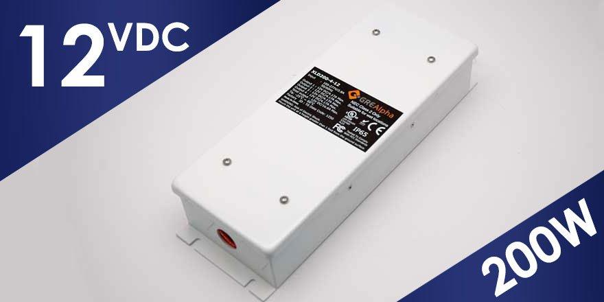 200W 12VDC Class 2 LED Power Supply XLD200B-412V-FC