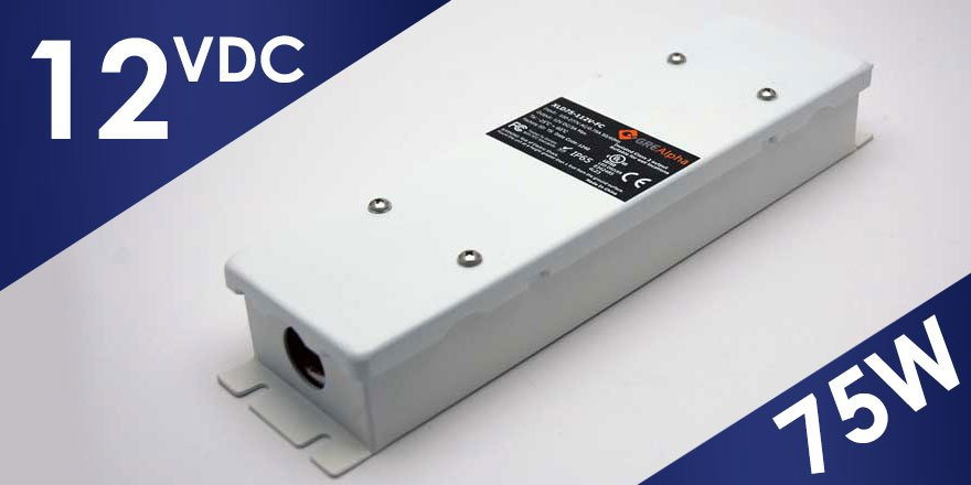 75W 12VDC Class 2 LED Power Supply XLD75B-112V-FC