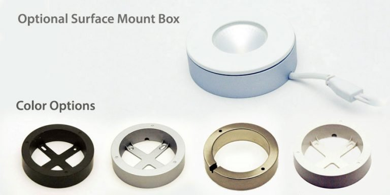 Surface mount box color options