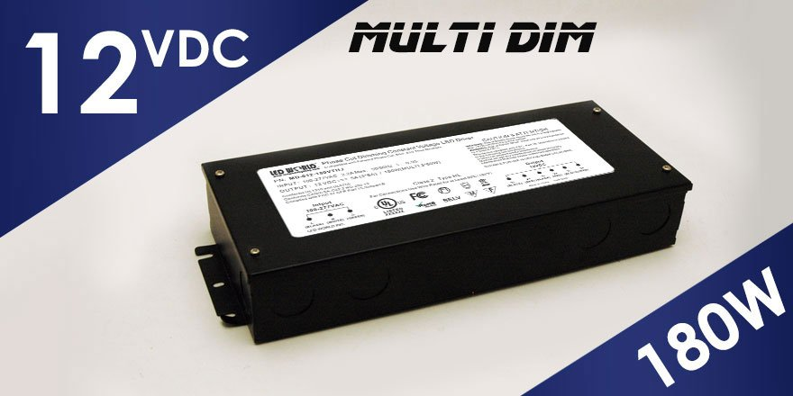 180W (3x60W) 12VDC Class 2 Dimmable LED Driver MD-012-180VTHJ
