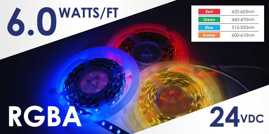RGBA LED Strip FA60M50-5M-24V-RGBA