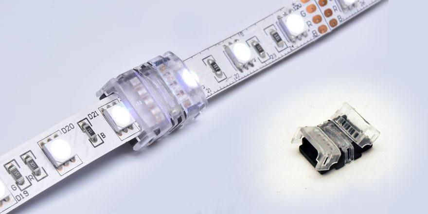 4 Pin RGB Strip to RGB Strip Clamp Connector – CL10BB-4