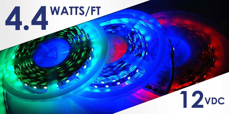12VDC RGB LED Strip – 4.4 Watts FA60M50-4M-12V-RGB