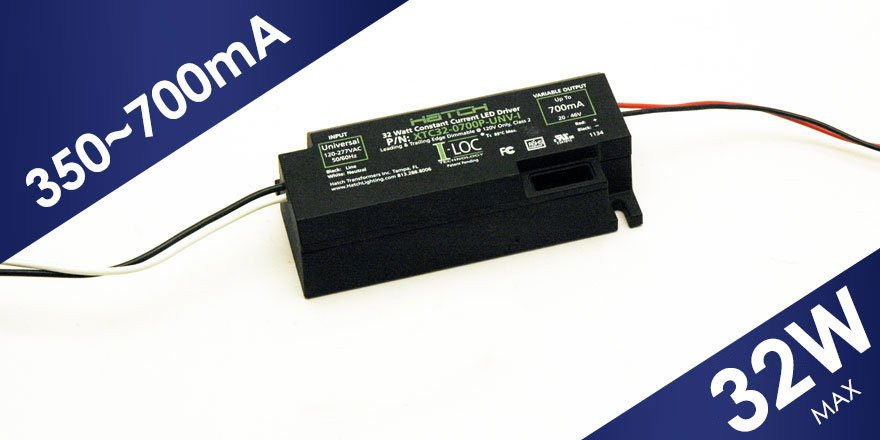 32W constant current adjustable LED Driver XTC32-0700P-UNV-I